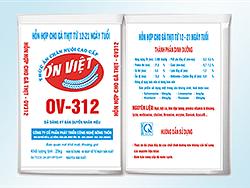 Hỗn hợp gà thịt từ 12 - 21 ngày tuổi OV - 312
