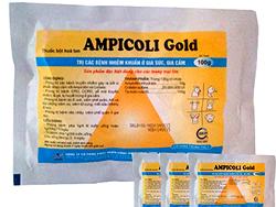 Trị các bệnh nhiễm khuẩn ở gia súc, gia cẩm - AMPICOLI Gold