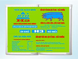 Hỗn hợp viên cho Lợn từ 30kg - xuất chuồng H3