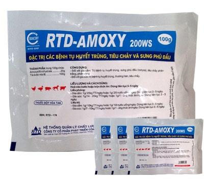 Đặc trị các bệnh tụ huyết trùng, tiêu chảy và sưng phù đầu - RTD AMOXY 200 WS