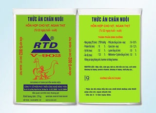Hỗn hợp cao cấp cho ngan, vịt thịt ( từ 12 ngày tuổi đến xuất chuồng) RTD-V902