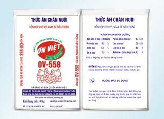 Hỗn hợp cho ngan, vịt đẻ siêu trứng OV-558